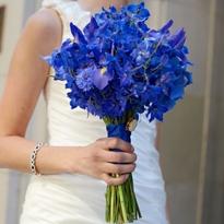 Свадебные букеты синие цветы