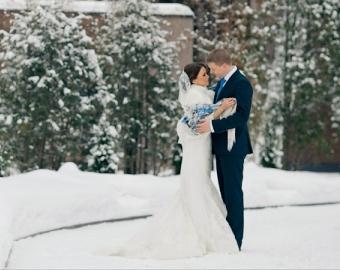 Синий свадебный букет невесты (Obradoval.ru) - фото 10