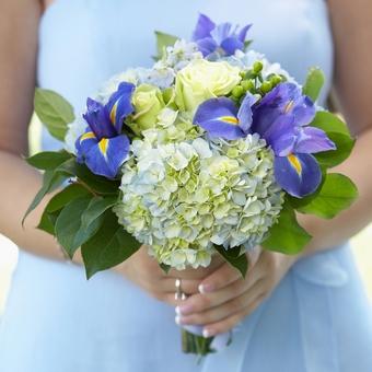 Синий свадебный букет невесты (Obradoval.ru) - фото 11