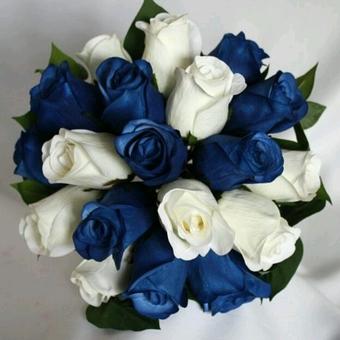 Синий свадебный букет невесты (Obradoval.ru) - фото 14