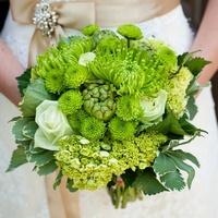 Свадебный букет зелёный