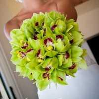 Зелёный свадебный букет
