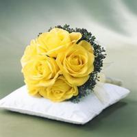 Желтый свадебный букет невесты obradoval