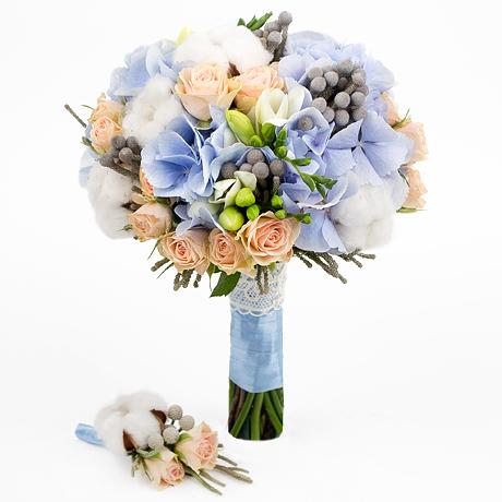 Свадебный букет голубой купить екатеринбург 1